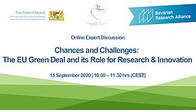 Chances and Challenges: The EU Green Deal and its Role for Research & Innovation